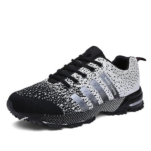 6fb06f6b33 Chaussures de course running sport Compétition Trail entraînement homme  femme basket ete baskets Noir 36