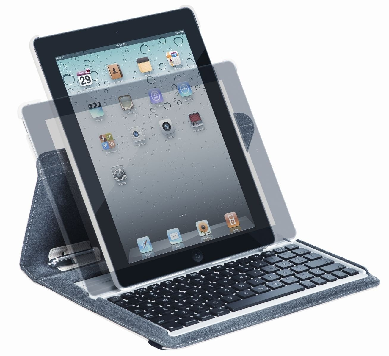Targus Versavu Rotating Keyboard Case and Stand for iPad 3 and 4, Bone White (THZ171US) by Targus (Image #6)