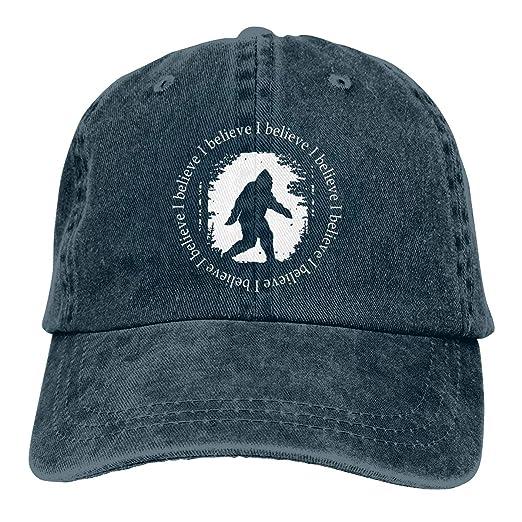 6757de7a4 Amazon.com: NVJUI JUFOPL Bigfoot I Believe Men's Great Baseball Cap ...