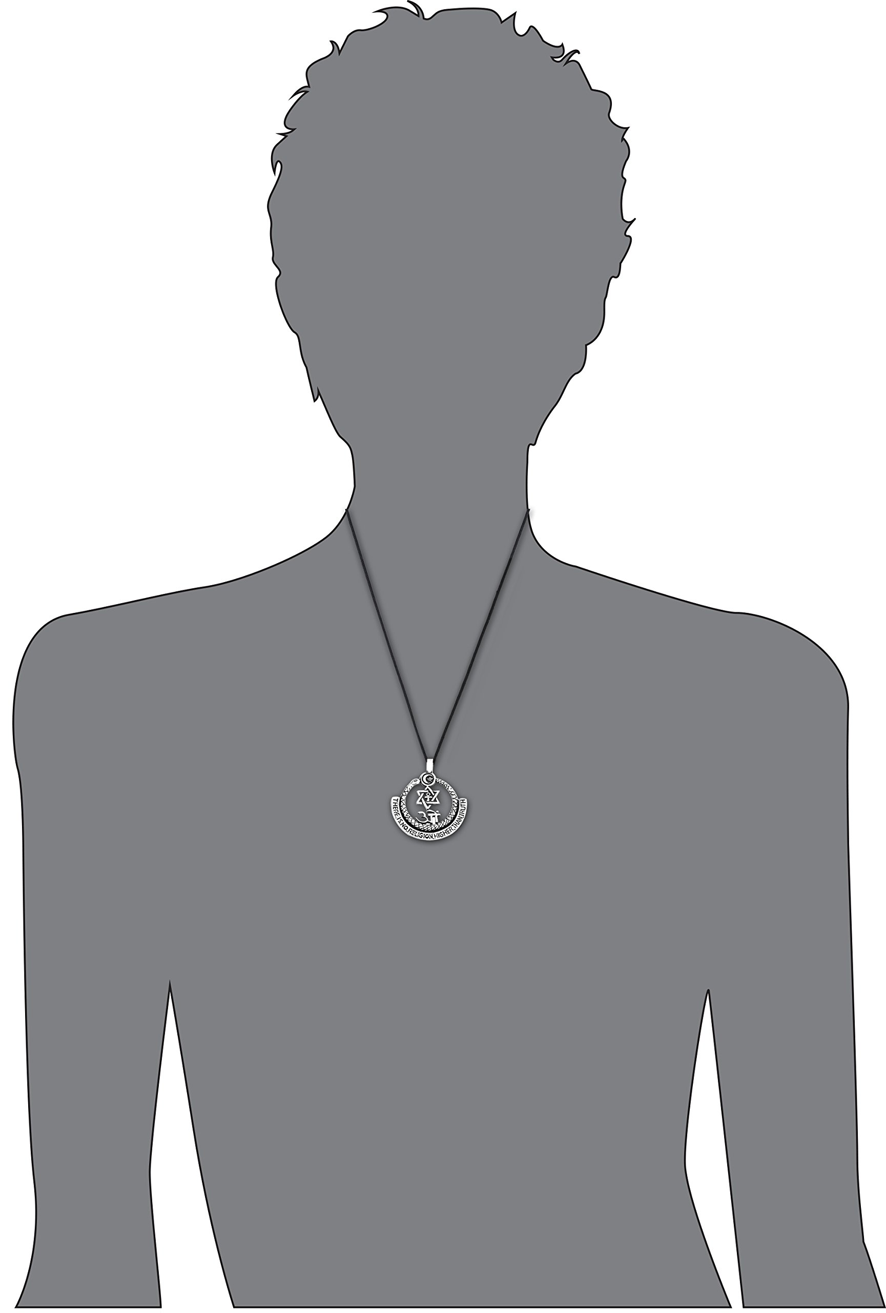 Dan's Jewelers All Religions Truth Symbol Pendant Necklace + Silver Plated Clasp, Fine Pewter Jewelry by Dan's Jewelers (Image #4)