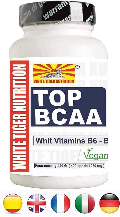 Aminoácidos de cadena ramificada BCAA | 1200 tabletas 1260 gr | Las vitaminas B6 y B1