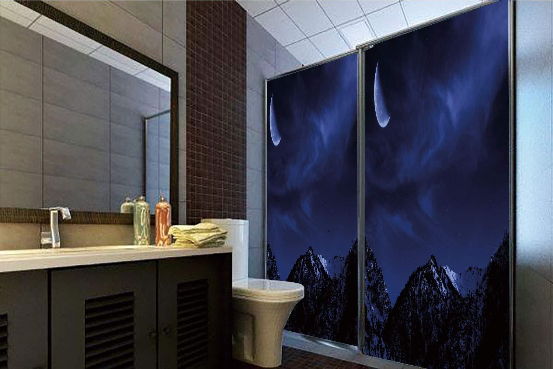 Horrisophie dodo 接着剤不要 静電気でくっつくガラスステッカー 夜 ムードのあるモノクロ コートランドアリー チャイナタウン ニューヨーク市 ダーク アーバンの風景 ブラックホワイト 高さ35.43インチ×幅23.62インチ 自宅&オフィス用 39.37