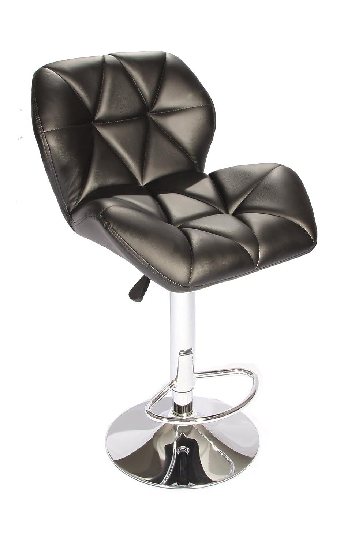 Amazon.com: BestOffice SET Of (2) Black Bar Stools Leather Modern Hydraulic  Swivel Dinning Chair Barstools: Kitchen U0026 Dining