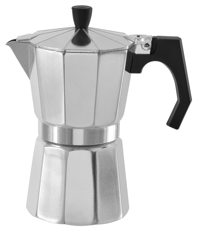 noorsk Espressokocher Espresso Maker für 3 Tassen, 14,5 x 16 cm Silber