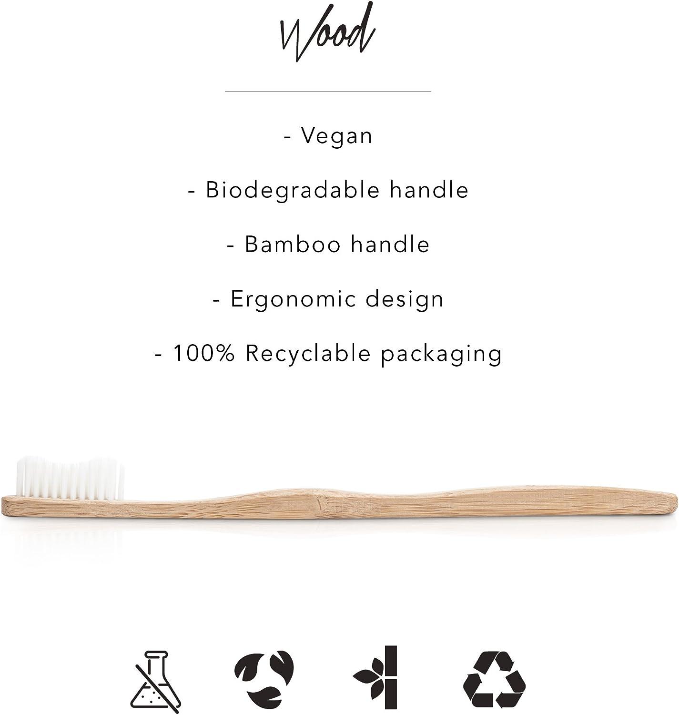 Cepillo de dientes de madera de bambú, biodegradable, respetuoso ...