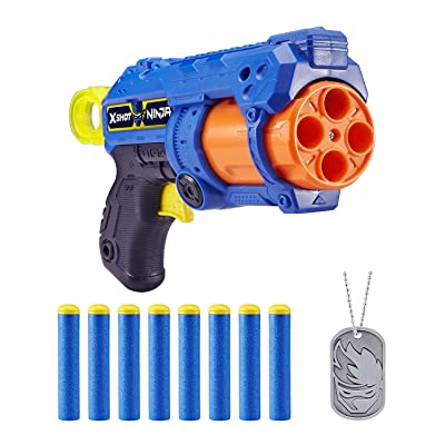 XShot Ninja No Rez Foam Dart Blaster (8 Darts, 1 Dog-Tag) Limited Edition by ZURU: Toys & Games