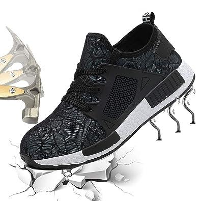 best sneakers 0e358 73863 NASONBERG Herren Leicht Sicherheitsschuhe Damen Atmungsaktiv Arbeitsschuhe  Schutzschuhe mit Stahlkappe