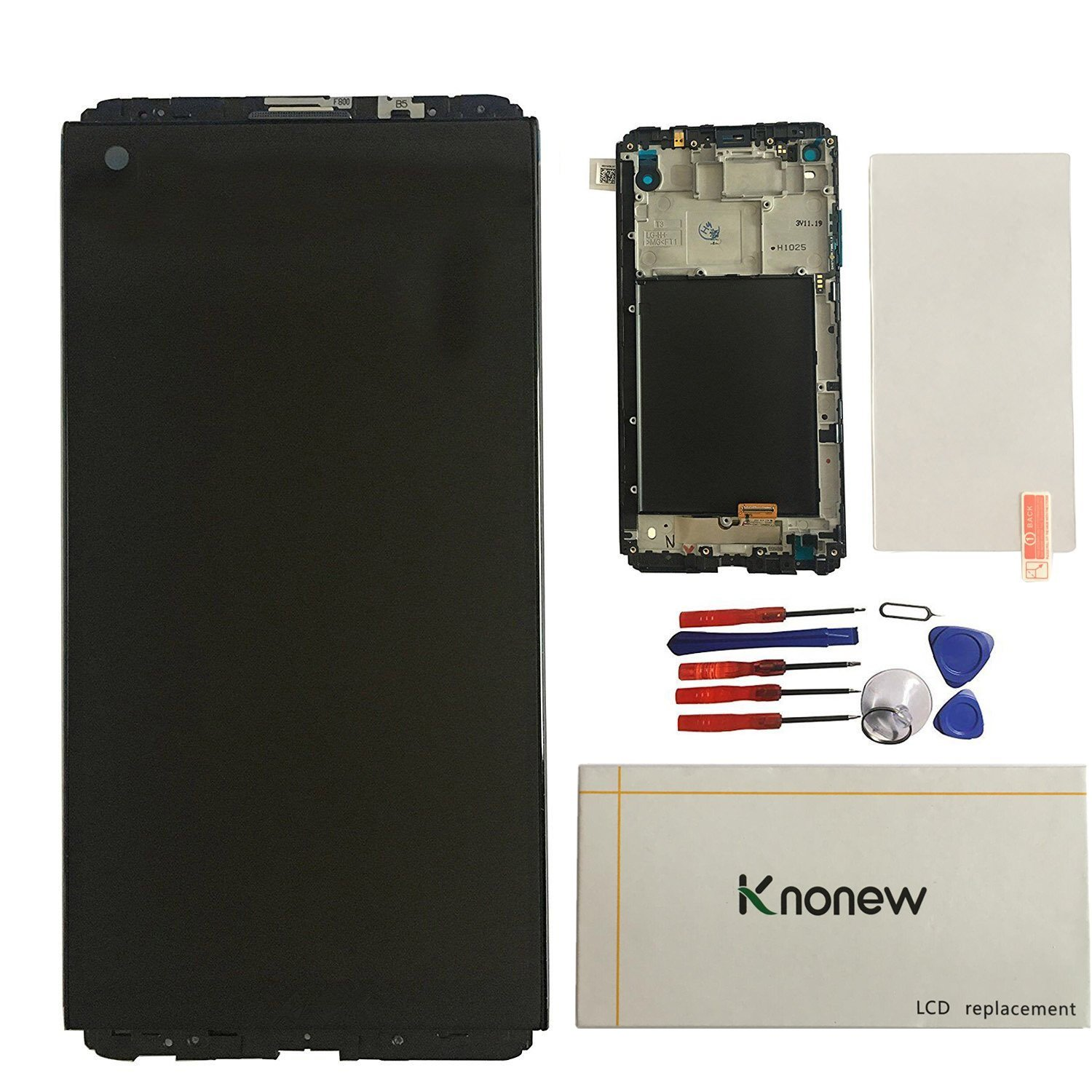 KNONEW LCD Display Touch Screen Digitizer Assembly Replacement+Frame For LG V20 F800L H910 H915 H990 LS997 LCD