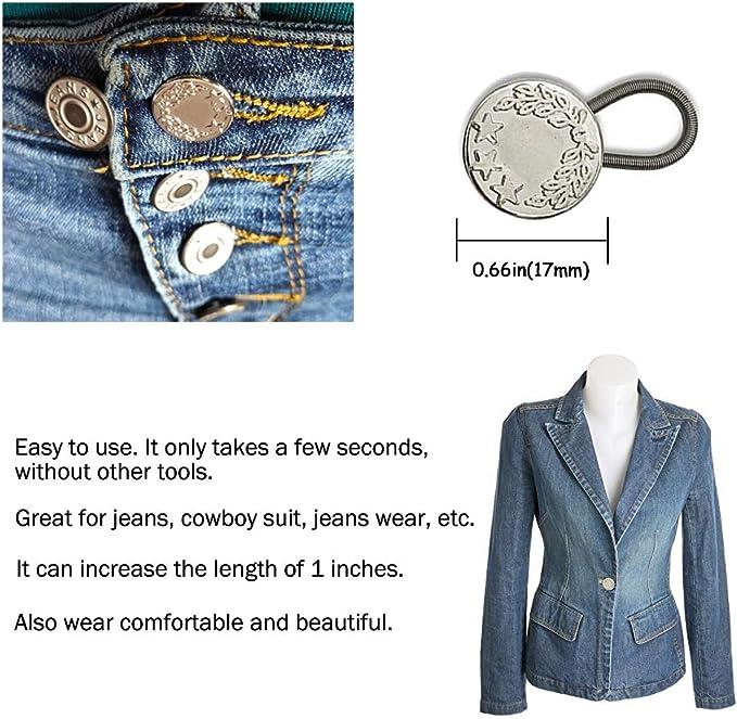 6 Pack Pantalones Extensor De Cintura Extensor Para Camisa Vestido Pantalones Pantalones Vaqueros