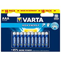 Varta High Energy Batterie AAA Micro Alkaline Batterien LR03-10er Pack