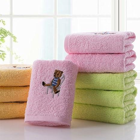 Toallas CHENGYI algodón Puro para el hogar, Microfibra de la casa, Oso Bordado de