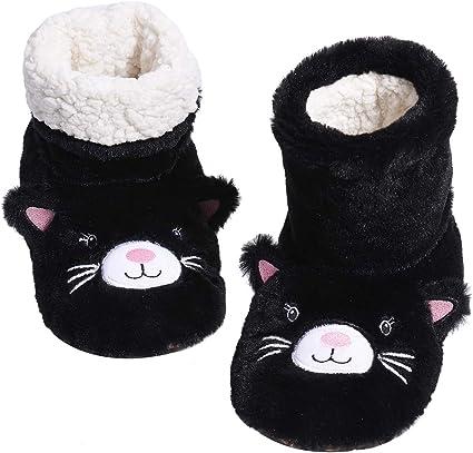Panda Bros Fluffy Slipper Socks with Non Slip Childrens House Lined Socks Boat Super Cozy Hospital Slippers