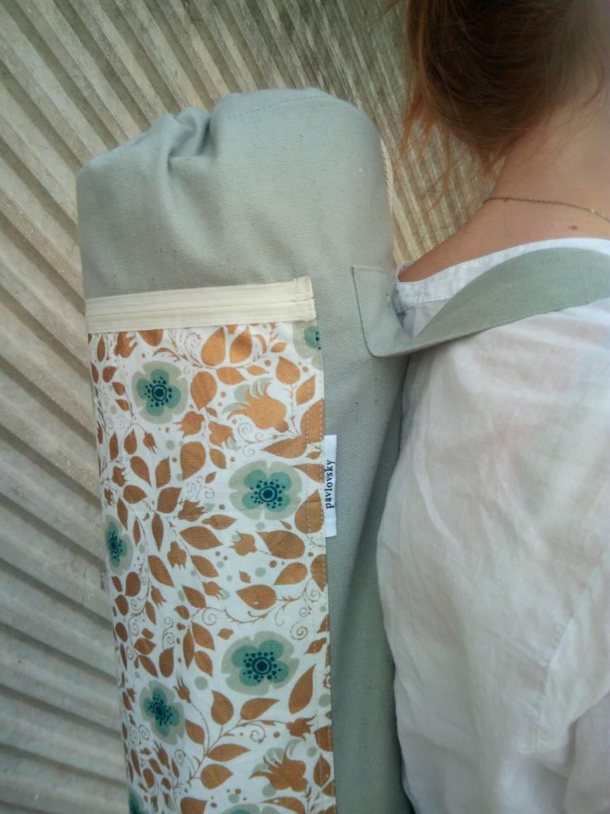 Sage green yoga mat bag