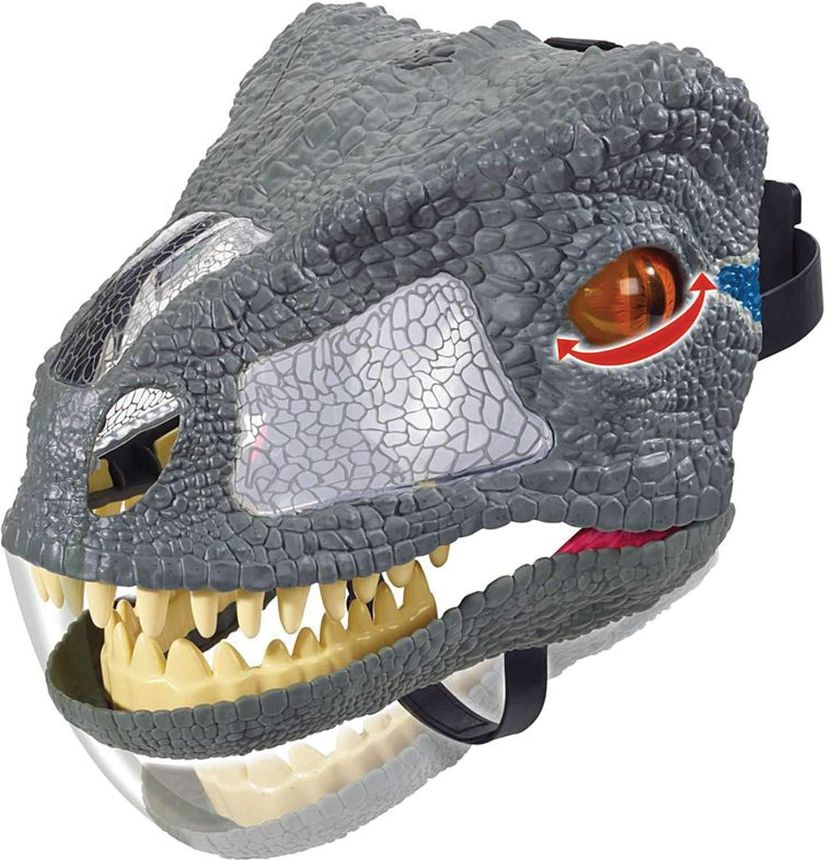 Jurassic World Chomp 'n Roar Mask Velociraptor ''blue'' by Jurassic World Toys (Image #4)