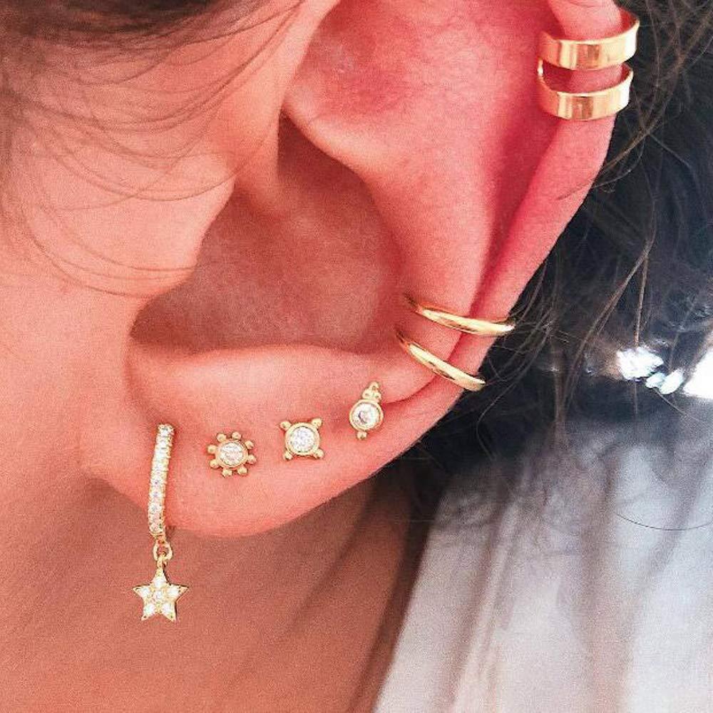 Set of Three Elegant Earrings