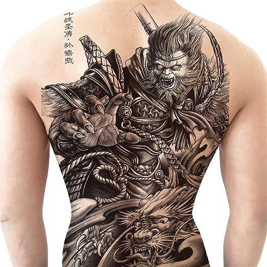 tzxdbh Pegatinas para Tatuaje con Foto Grande en la Espalda ...