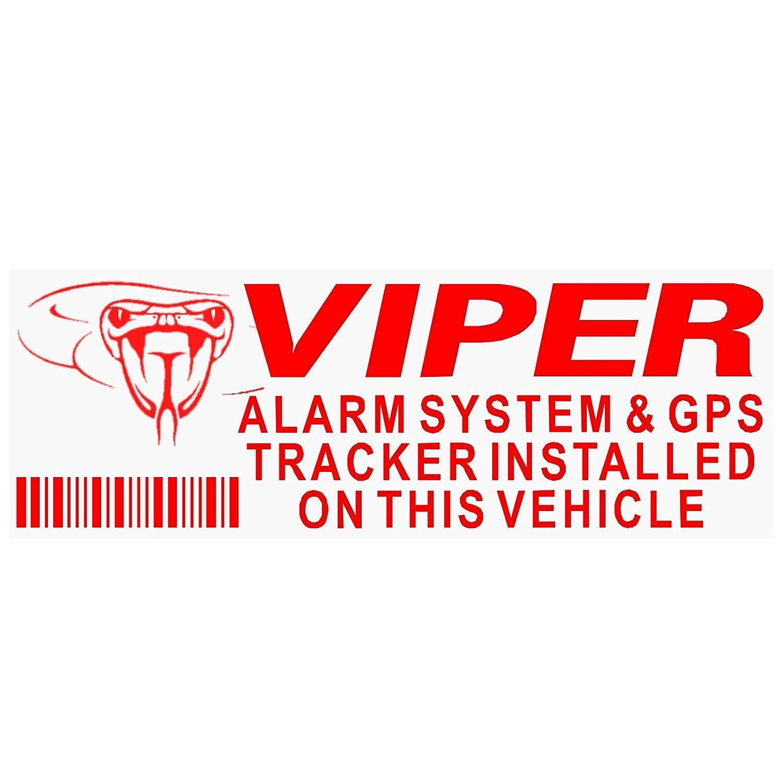 Fensteraufkleber Viper Alarm und GPS-Tracking-Gerä tesicherheit, Rot/Transparent, Aufkleber 87 x 30 mm, fü r Auto, Lieferwagen, Warn-Schilder, 5 Stü ck Platinum Place