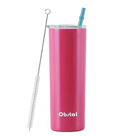Amazon.com: Obstal - Vaso aislante de acero inoxidable ...