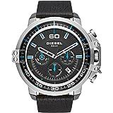 Diesel Men's DZ4408 Deadeye Stainless Steel Black Leather Watch