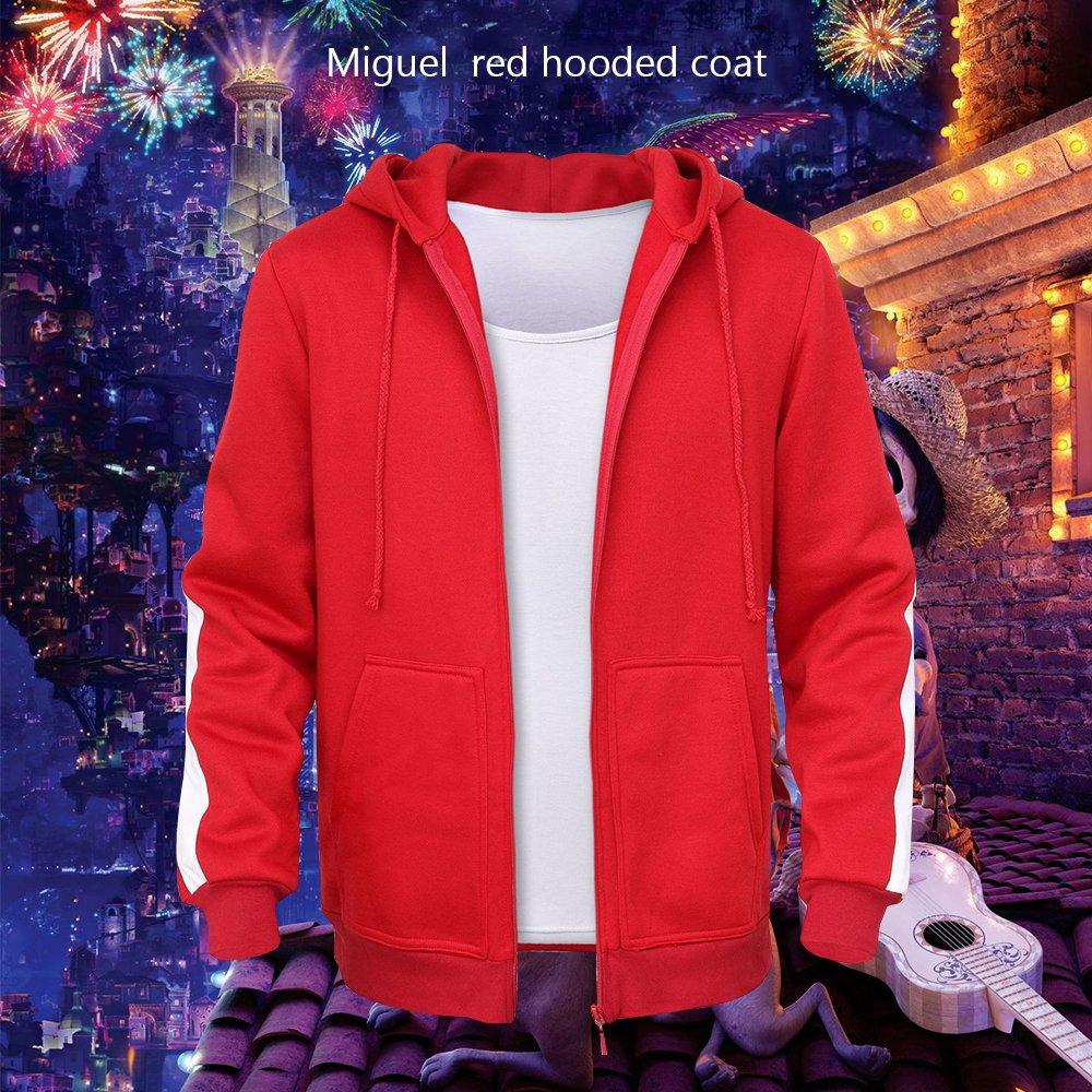 Mukola Boys Coco Miguel Hoodie Fleece Full Zip Sweatshirts Costume