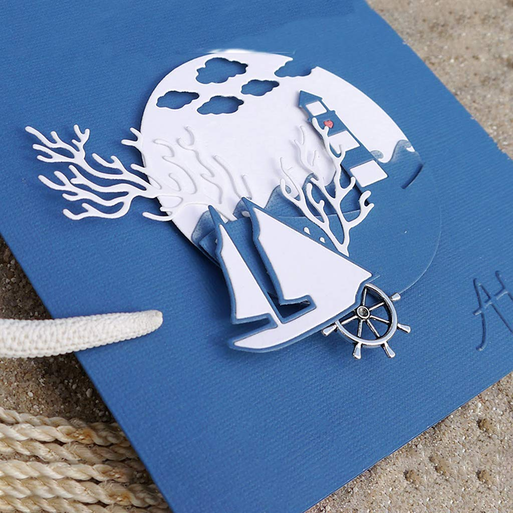 DIY Embossing Album Stamp Card Scrapbooking Decor Metal Cutting Mold Danyerst Boat Carbon Steel Cutting Dies Stencil