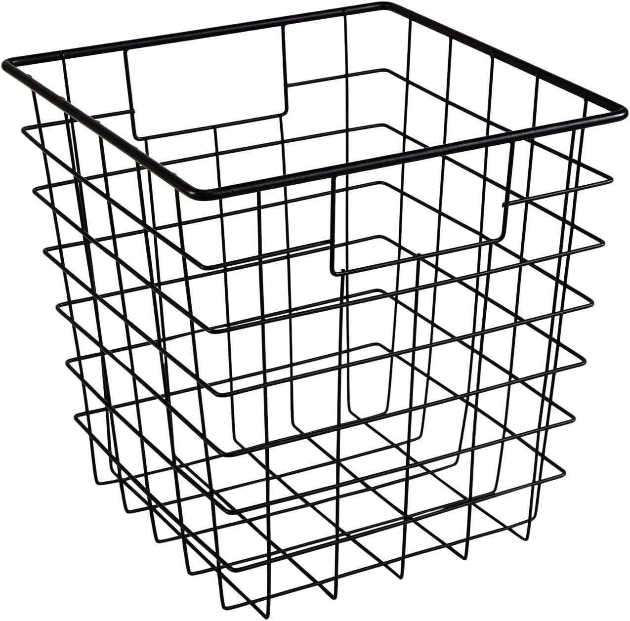 ClosetMaid 13033 Cubeicals Wire Storage Bin with Handles, Black