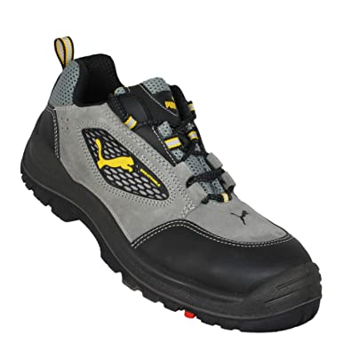 c66b1f4212229 Puma Work Shoes S1 SRC Safety Shoes Trekking Shoes Flat Gray: Amazon ...