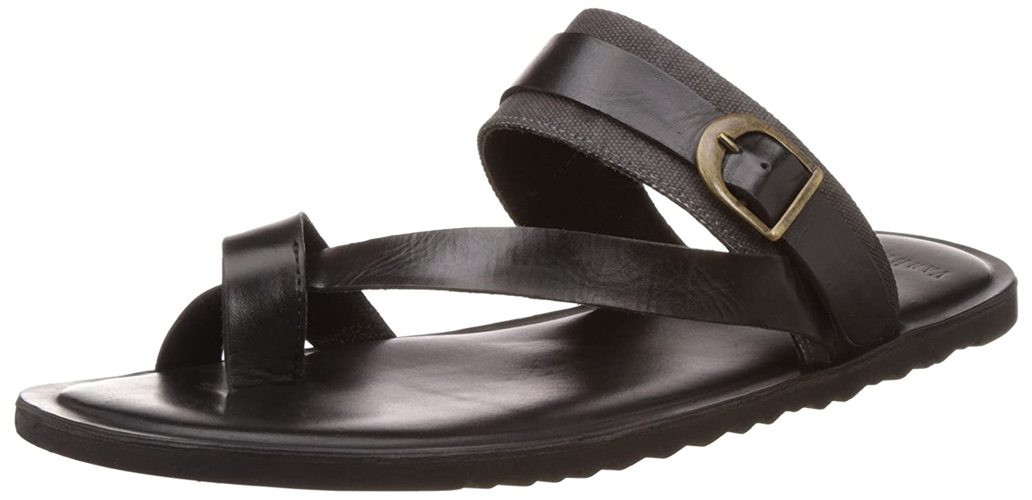 6e271d0a72a7 Van Heusen Men's Black Leather Sandals - 6 UK/India (40 EU): Buy Online at  Low Prices in India - Amazon.in