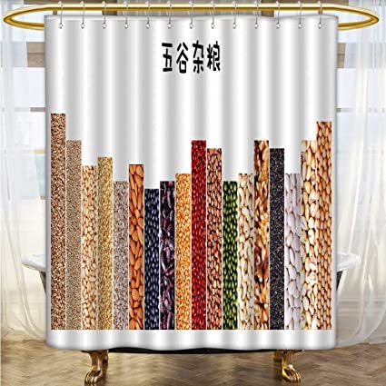 Custom Made Shower Curtains.Amazon Com Shower Curtains 3d Digital Printing Cereals
