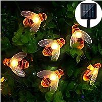 Mr.Twinklelight Solar String Lights, Waterproof 30 LED Honeybee Solar Powered Fairy String Lights for Outdoor Garden Summer Party Wedding Decoration (Warm White)