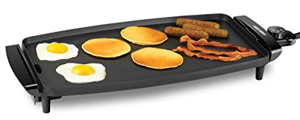 $29.97 BLACK+DECKER GD1810BC Electric Griddle with Removable Temperature Probe, Black
