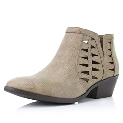 DailyShoes Women's Western Cowboy Booties Comfortable Chunky Heel Pointed Toe Stylish Ankle Boots | Ankle & Bootie