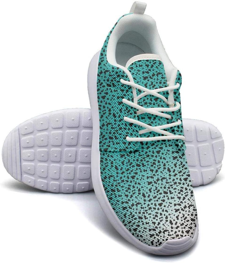 YSLC Leopard Print Lightweight Running Shoes Men Sneaker Lace-up Fashion Shoes