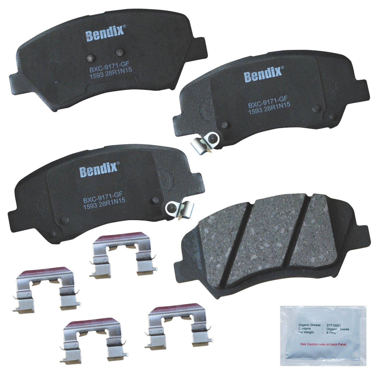 Bendix CFC1594 Premium Copper Free Ceramic Brake Pad with Installation Hardware Rear