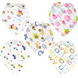 Baby Bandana Drool Bibs,Best for Drooling&Teething-100% Natural Organic Cotton