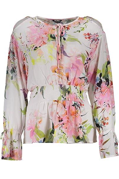 0f2bc6e104f7 GUESS MARCIANO 92G4618998Z T-Shirt Long Sleeves Women 48: Amazon.co.uk:  Clothing