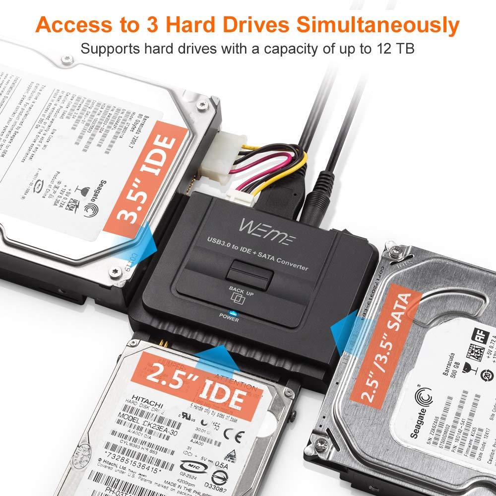 Amazon.com: weme adaptador USB 3.0 a SATA/IDE con 2.5 ...