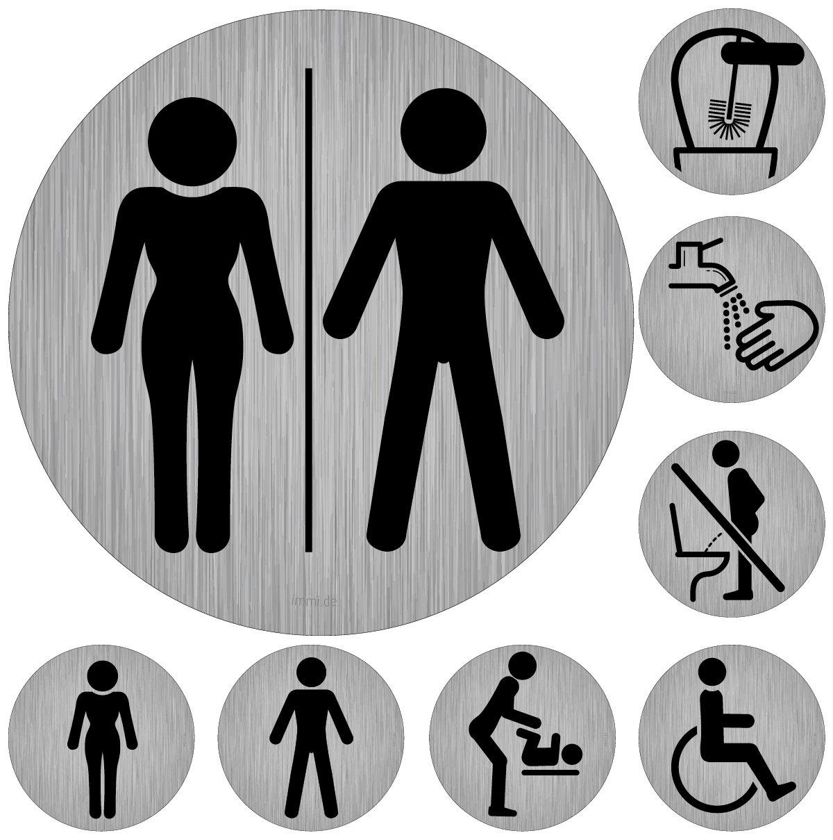 95mm/Ø immi Toilette Hinweis Nicht im Stehen pinkeln Bitte im Sitzen pinkeln