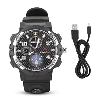 Richer-R Reloj Inteligente,Smartwatch WiFi con Visión Nocturna,HD Cámara Videos de 1280 * 720,Luz LED,Tarjeta TF para Teléfono/Tablet PC: Amazon.es: ...
