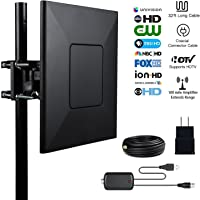 Besitek 1080p 150-Mile Amplified Outdoor HDTV Antenna w/Detachable Amplifier Signal Booster & 33FT Coaxial Cable