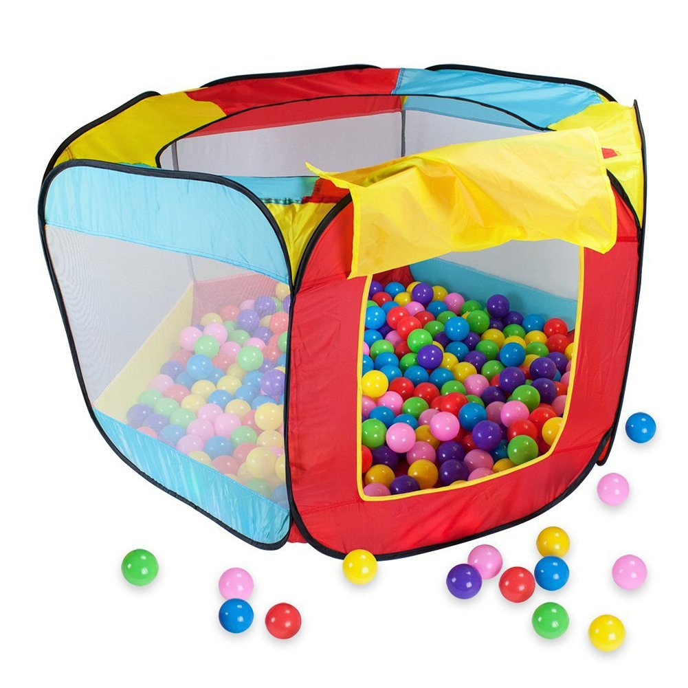 GonPi Toy Tent - Kids Play House Toy Tent Garden Playhouse Indoor Outdoor Easy Folding Baby Ocean Ball Pool Girl Boy Portable Game Tent Play Hut