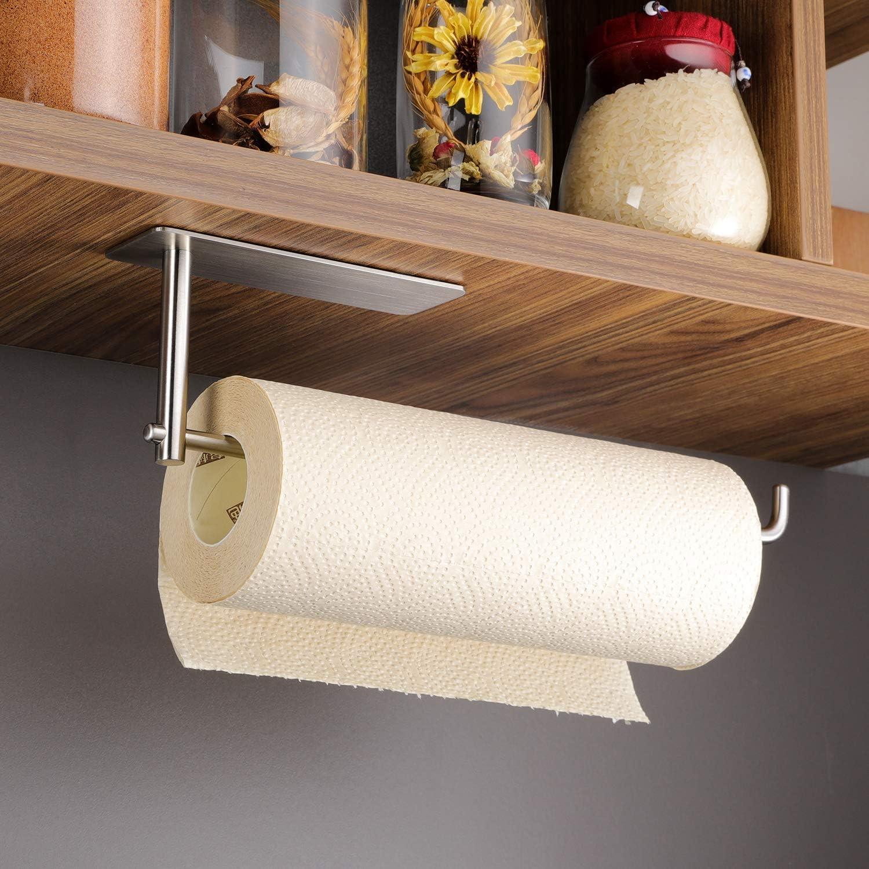 Kegii Paper Towel Holder Under Cabinet Mount Self Adhesive Rack For Kitchen Stai Ebay