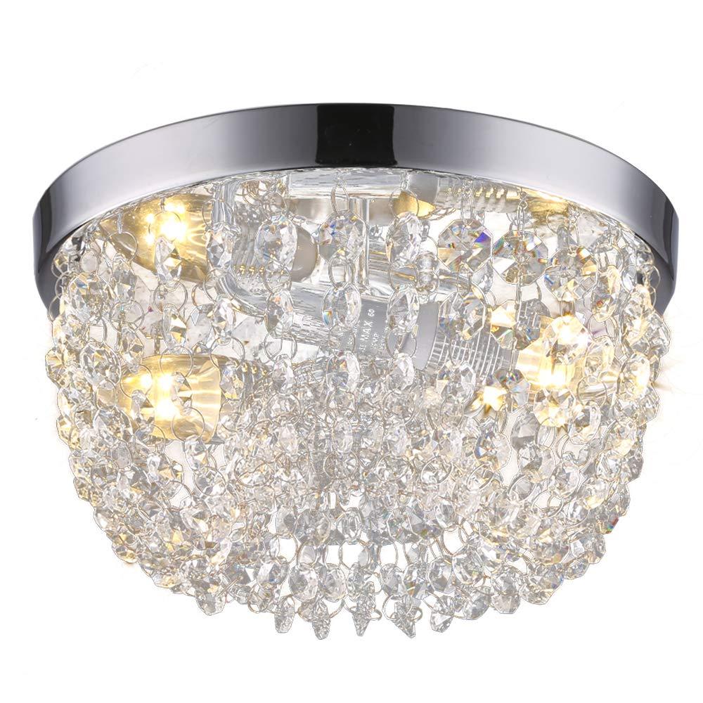 Sottae elegant mini style 2 lights hallway living room dining room kitchen ceiling light fixtures modern crystal chandelier crystal ceiling lightd9 8