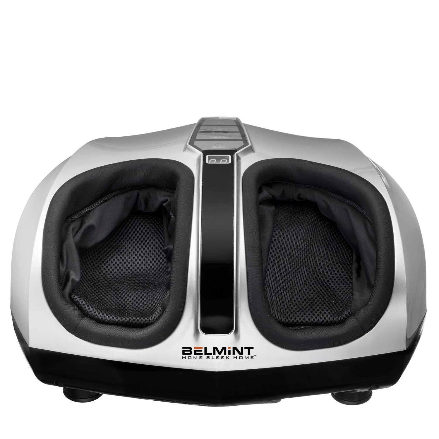 Belmint Shiatsu Foot Massager Machine with Heat Function, Multi Settings Deep-Kneading Shiatsu Therapy Feet Massager Silver