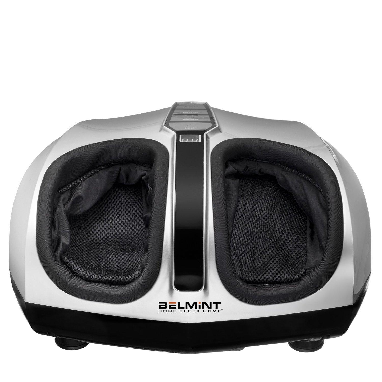 Belmint Shiatsu Foot Massager Machine with Heat Function, Multi Settings Deep-Kneading Shiatsu therapy Feet Massager – Silver