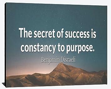 Amazoncom Secret To Success Is Constancy To Purpose Benjamin