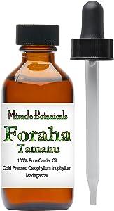 Miracle Botanicals Tamanu Oil (Foraha) - 100% Pure Calophyllum Inophyllum - Therapeutic Grade - 60ml/2oz.