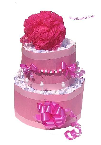 """Tarta Pañales para niña """"personalizado con – con nombres – El regalo perfecto"""