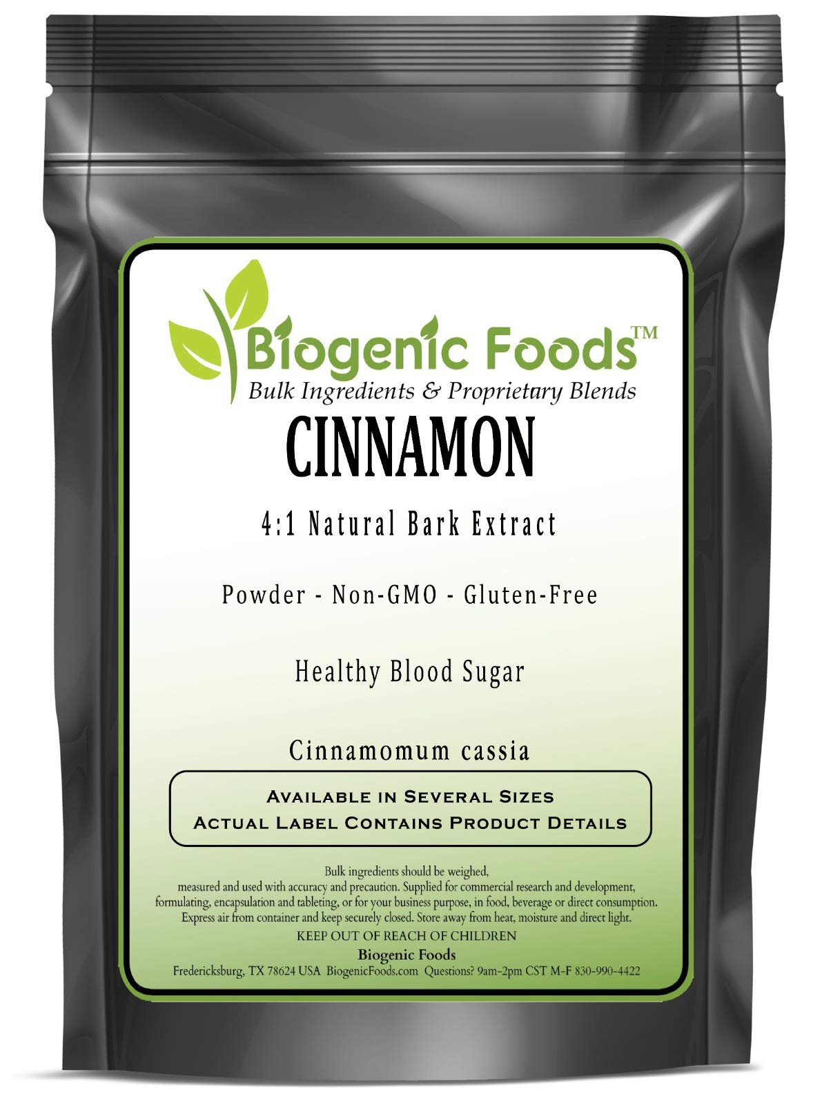 Cinnamon - 4:1 Natural Bark Powder Extract (Cinnamomum Cassia), 10 kg