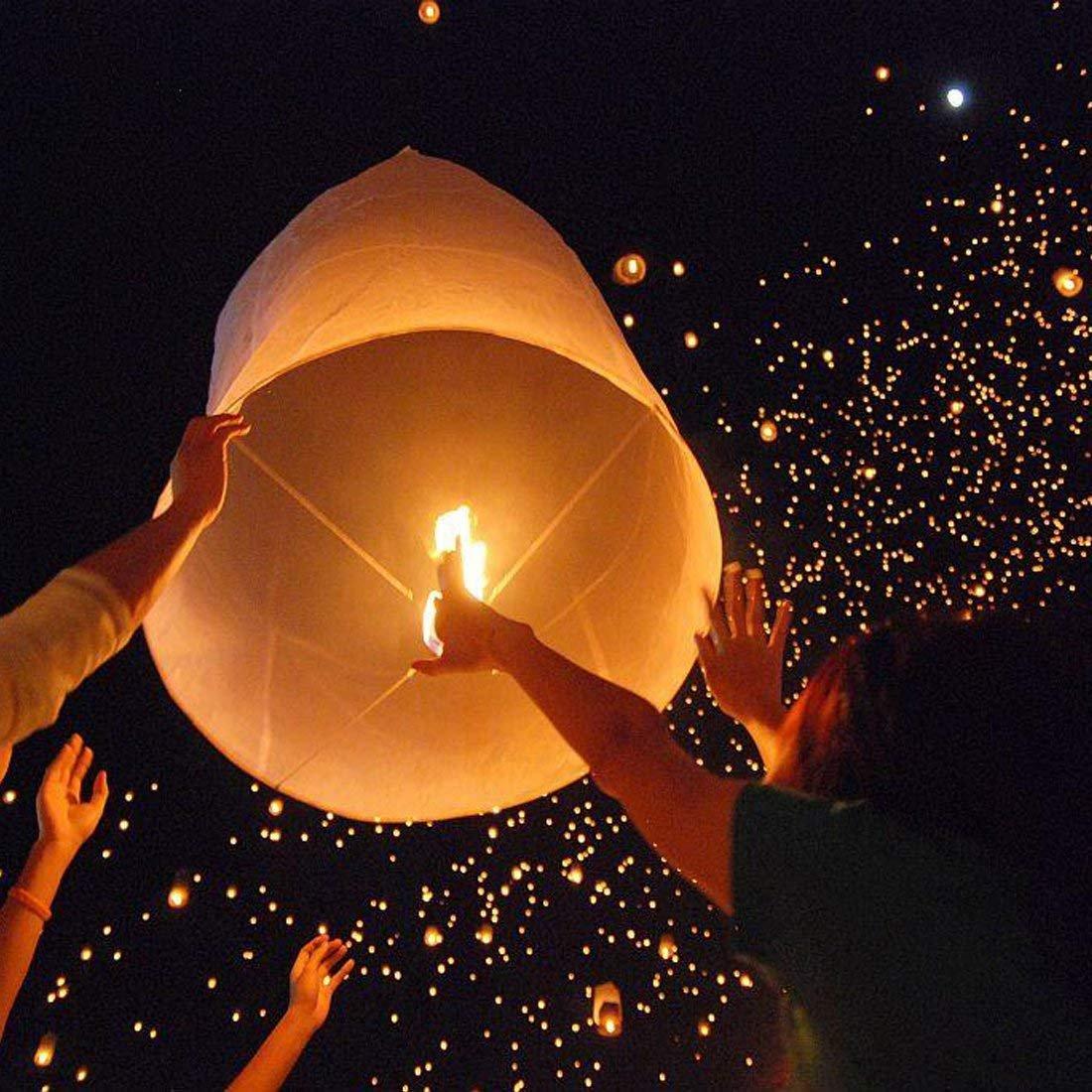 20 PCS Lanterne Volanti,Doris Direct 7 Colori Lanterne Volante Lanterne Cinesi-100/% Biodegradabile per Natale Capodanno Cinese Matrimonio e Festa Che Desiderano Luci Capodanno